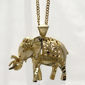 Elephant Gold Pendant Necklace - New Earth Gifts