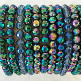 Mardi Gras Style 12 pc Bead Bracelets | New Earth Gifts