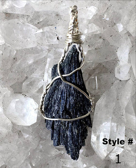 Black Kyanite Pendant - New Earth Gifts and Beads