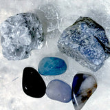 Gemstone 6pc Communication Set for Throat Chakra Healing - New Earth Gifts and Beads