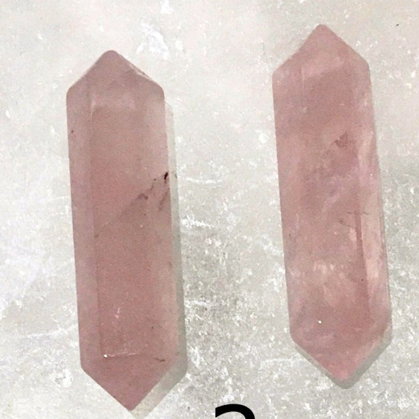 Rose Quartz Double Terminated Points Set of 2 - New Earth Gifts and Beads