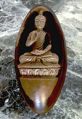 Shiva Lingam Stone Featuring Carved Buddha - New Earth Gifts and Beads