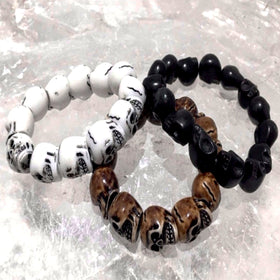 Skull Bracelets Set of 3 - New Earth Gifts