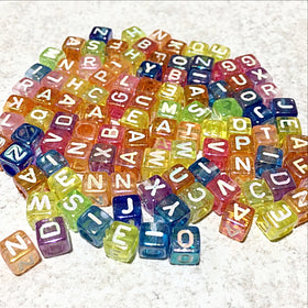 Alphabet Beads 6mm Cube Beads 300 pc - New Earth Gifts and Beads