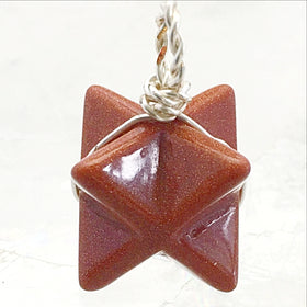 Goldstone Merkaba Pendant - New Earth Gifts and Beads