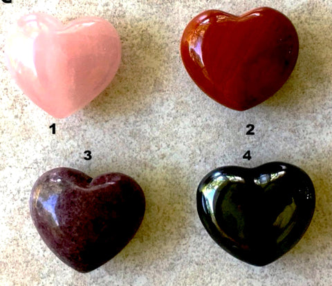 Gemstone Hearts - Various Gemstone Choices, 45mm - Style 4 - New Earth Gifts and Beads