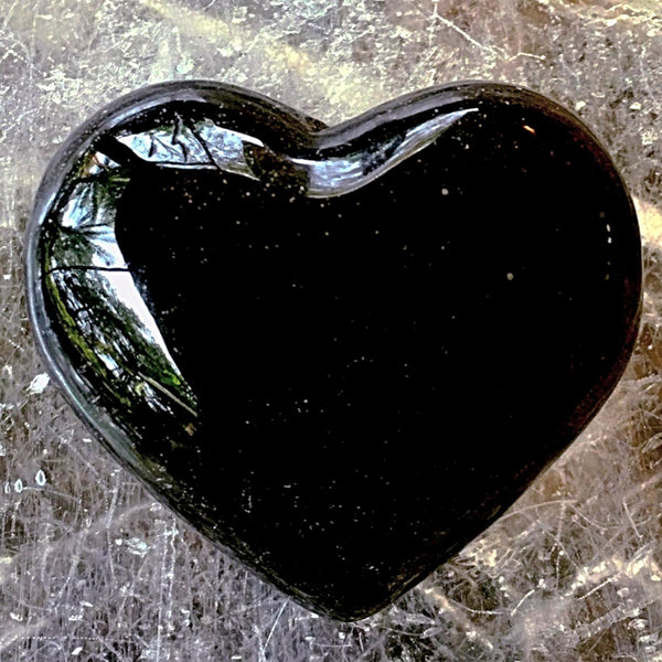 Black Onyx Heart - New Earth Gifts and Beads