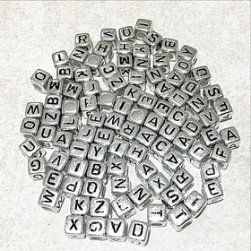 Alphabet 6mm Cube Beads 200 pc - New Earth Gifts and Beads
