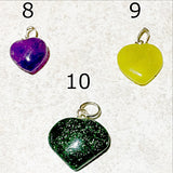 Gemstone Heart Charms - New Earth Gifts and Beads