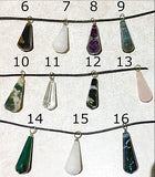 Gemstone Faceted Drop Pendant - New Earth Gifts and Beads