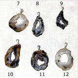 Agate Geode Slice Pendants Styles 7-12 - New Earth Gifts and Beads