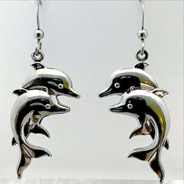 Dolphin Electroplate Earrings - New Earth Gifts