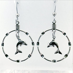 Dolphin Hoop Earrings - New Earth Gifts