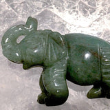 Aventurine Carved Gemstone Elephant - New Earth Gifts and Beads
