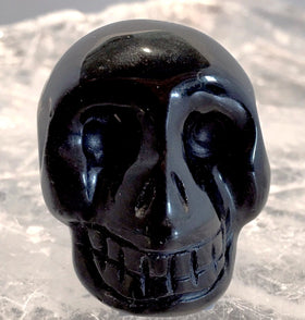 Gemstone Black Onyx Skull 40mm - New Earth Gifts
