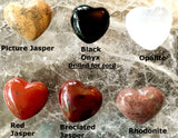 Gemstone Hearts - Various Gemstone Choices, 30mm - Style 2 - New Earth Gifts and Beads