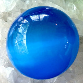 Blue Fiber Optic 50mm Spheres - New Earth Gifts