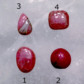 Polished Rhodochrosite Cabochons Set of Four - New Earth Gifts and Beads