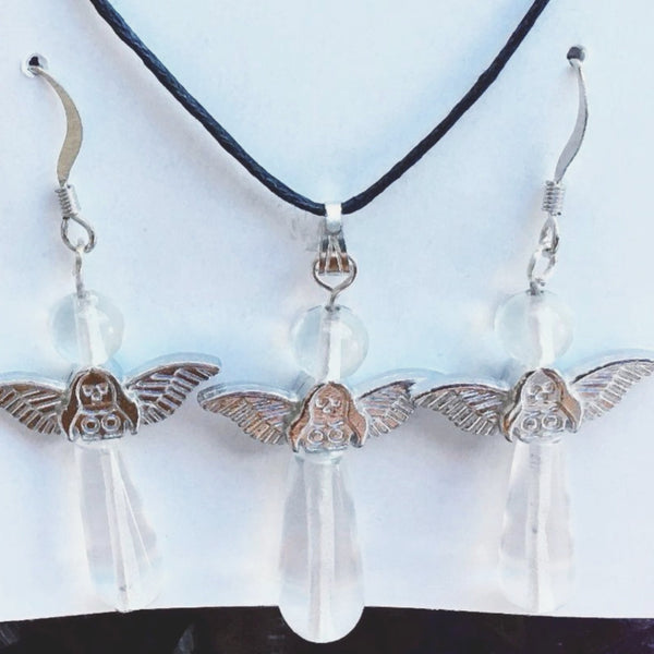Angel Crystal Quartz Necklace Set - New Earth Gifts and Beads