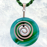 Spiritual Life Force Green Agate Pendant - New Earth Gifts and Beads