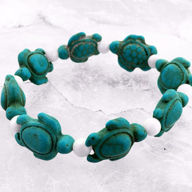 Sea Turtle Gemstone Bracelet - New Earth Gifts and Beads