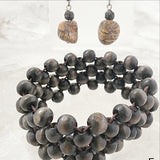 Multi Strand Dark Brown Wood Beaded Bracelet Sets - New Earth Gifts and Beads