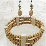 Multi Strand Wood Beaded Bracelet Set - New Earth Gifts and Beads