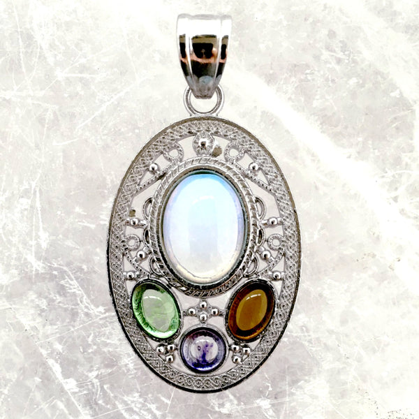 Opalite Victorian Style Pendant - New Earth Gifts and Beads