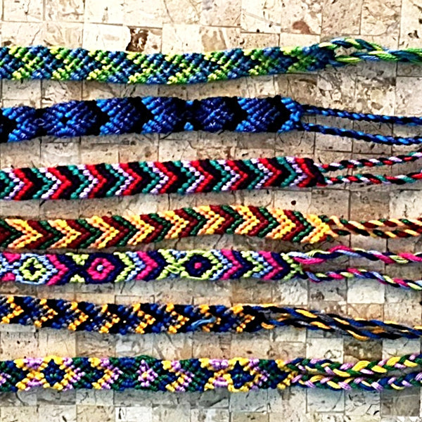 Friendship Bracelets Woven 6 Pc Set | New Earth Gifts
