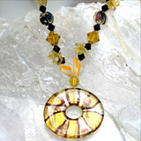 Murano Glass Pendant on Beaded Necklace - New Earth Gifts and Beads