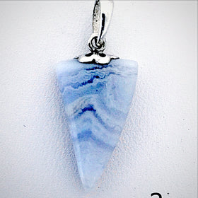Blue Lace Agate Free Form Pendant - New Earth Gifts and Beads