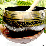 Singing Bowl - Brass Set with Wood Hands Bowl - New Earth Gifts and Beads