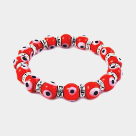 Evil Eye Bracelet Orange - New Earth Gifts