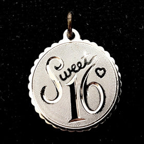 Sweet 16 Sterling Silver Charm by Danecraft - New Earth Gifts