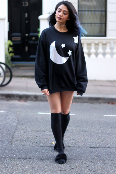 Holographic Moon Sweatshirt