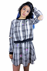 SAMPLE SALE ☻ Creepy but Cute tartan set