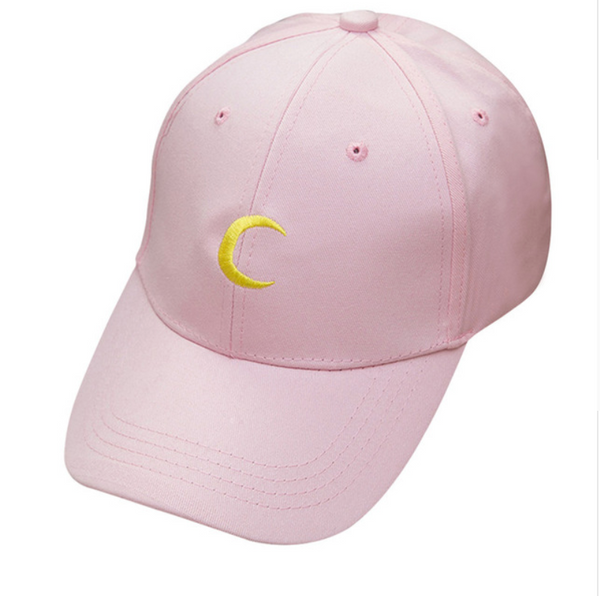 HEBA'S WORLD Black Moon Panelled Cap