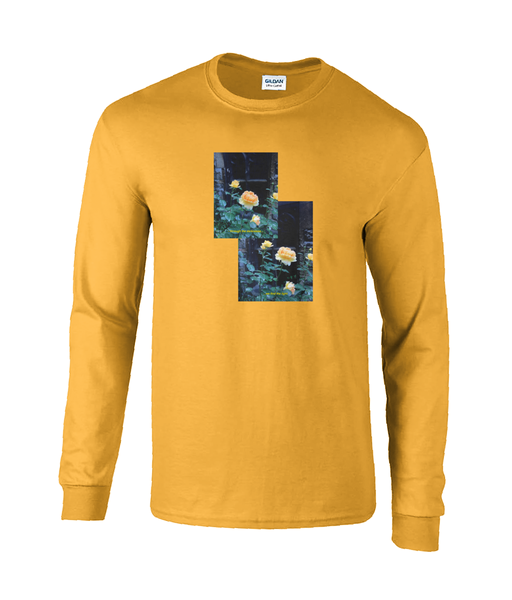 Find the Light. Long sleeved 'Church Bloom' cotton tee. Lighter colours.