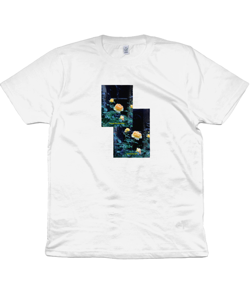 Find the Light. Short sleeved 'Church Bloom' cotton tee. Lighter colours.