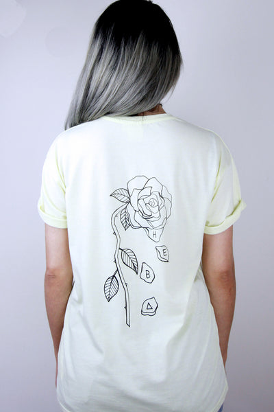 Pastel Yellow 'The End' Tee