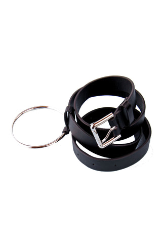 Black O Ring Waist Belt