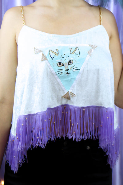 *Sample Sale* HEBA'S WORLD ☻ 'Space Kitty' Chain Cami