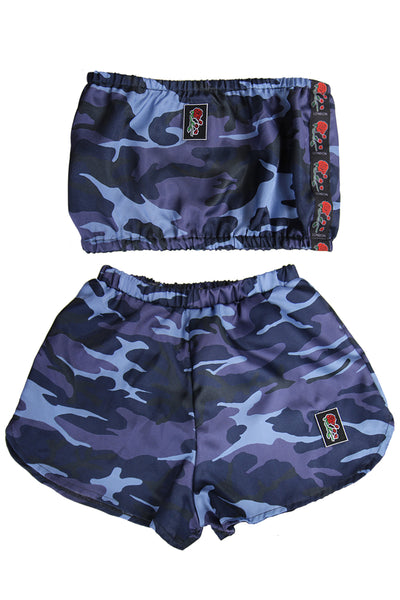 'Evolve' Satin Blue Camo Co-ord **Limited Edition**