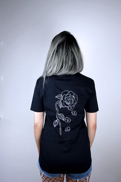 'Loves me Not' Front and Back Rose Tee