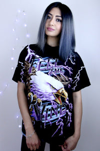 Vintage Eagle Lightning Double Sided Tee