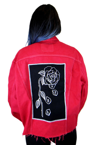 'Evolve' Red Logo Customised Vintage Levis Jacket **Limited Edition**