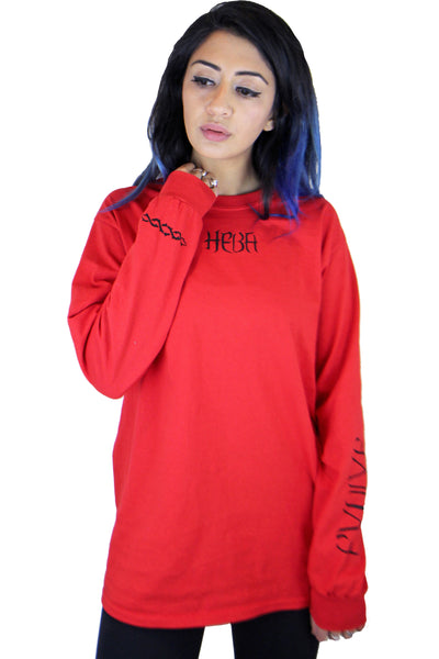'Evolve' Red Long Sleeve Top **Limited Edition**