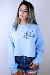 'The End' Baby Blue Sweatshirt