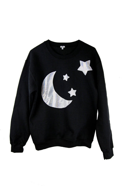 HEBA'S WORLD ☻ Holographic Moon Sweatshirt