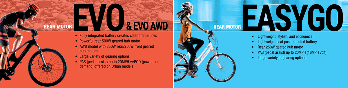 Easy Motion EVO ebikes